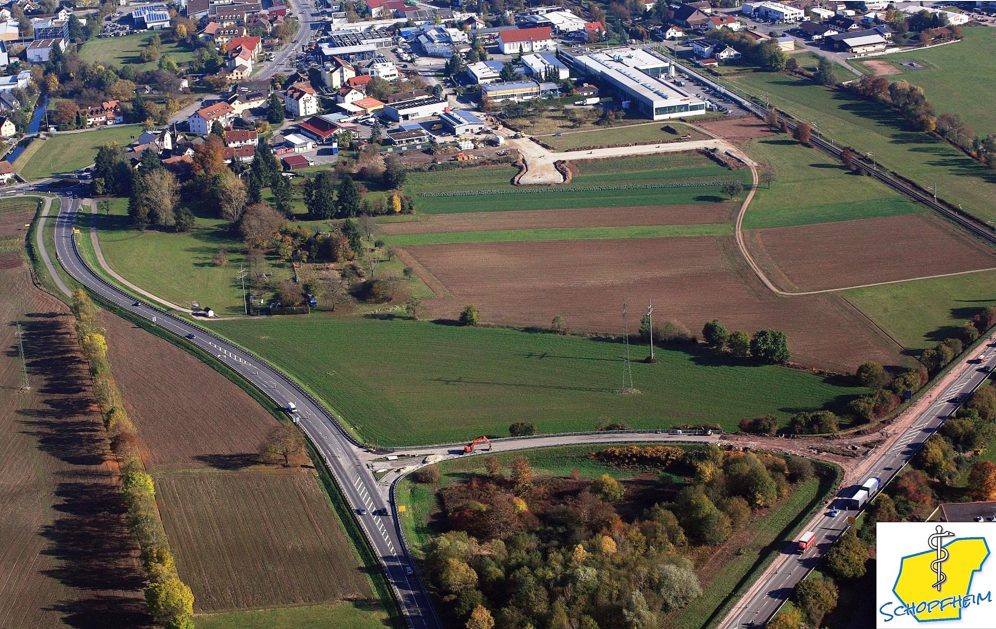 Luftbildaufnahme des Standortes für das Zentralklinikum
