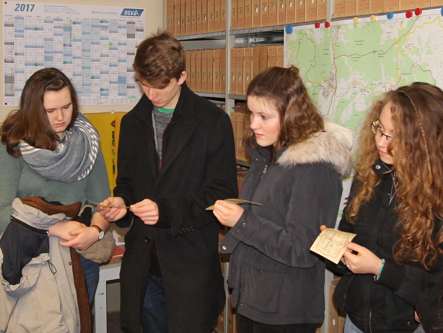 Schülerinnen und Schüler besichtigten das Notgeld