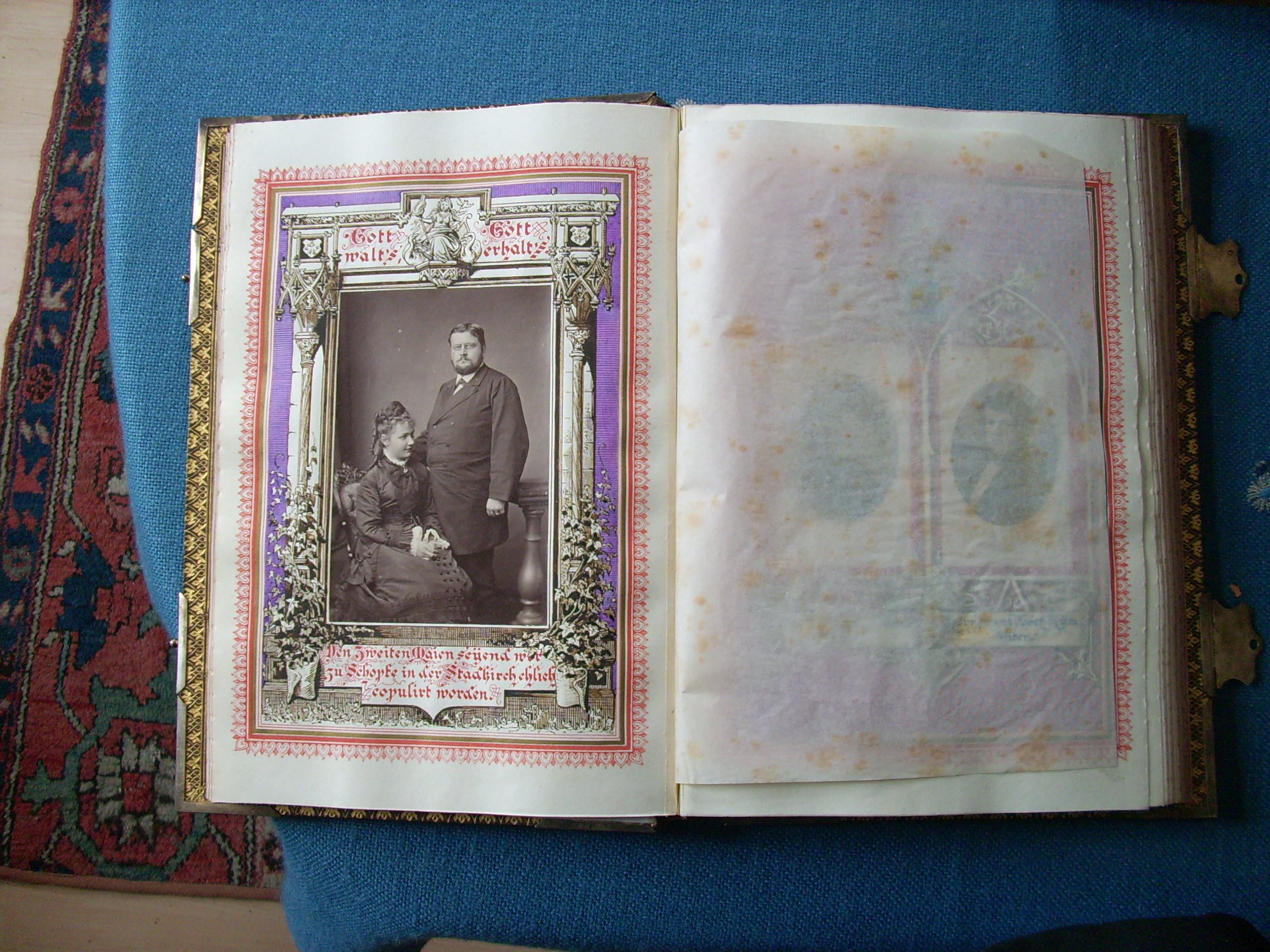 Heiratsbuch Anna Kym-Krafft mit Ehemann Camyll Kym