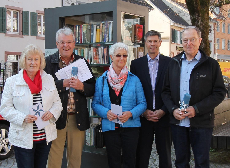 Birgit Uhlich, Henning Uhlich, Evi Schwörer, Bürgermeister Christof Nitz, Max Schwörer