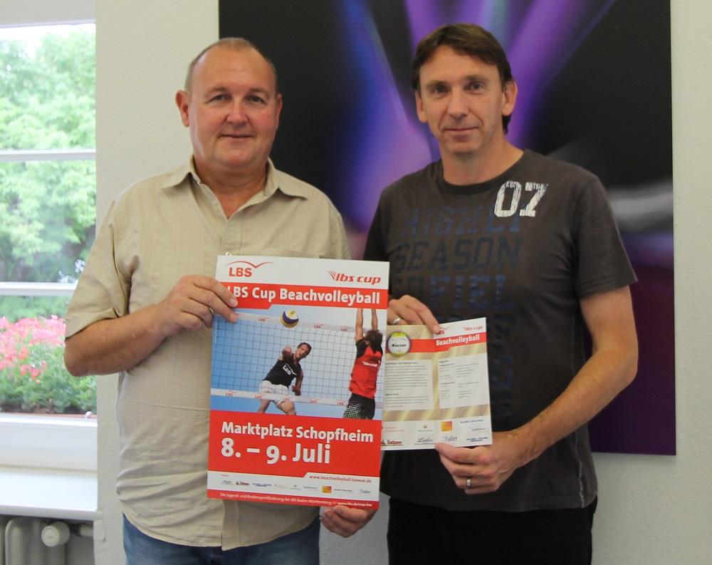 Ralf Schulz von der Stadt Schopfheim und Turnierleiter Martin Schaffner