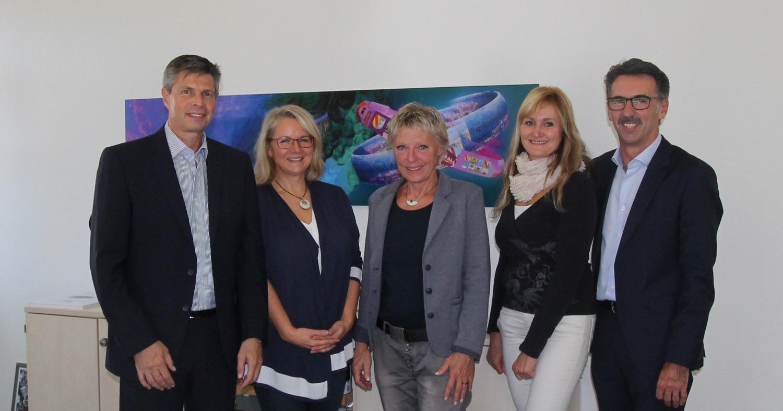 Bürgermeister Christof Nitz, Anja Becker-Nikolai, Angela Trüby, Anke Bühler, Jürgen Sänger