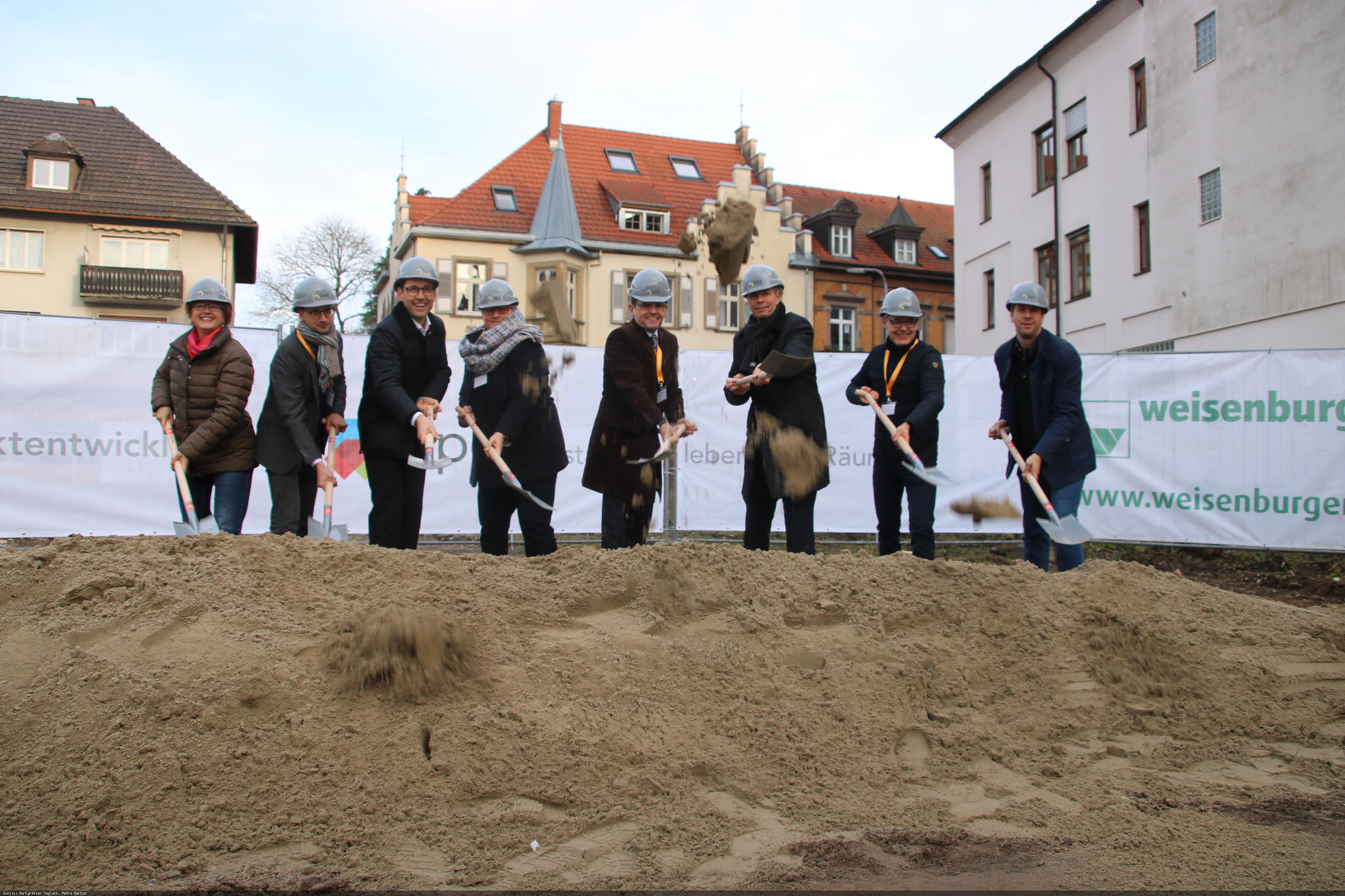 Spatenstich für das Neubaugebiet Uehlin Areal