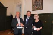 Dieter Henrich, Bürgermeister Dirk Harscher, Silvia Fricker