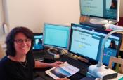 Dozentin Myriam Kursawe während des Online-Unterrichts