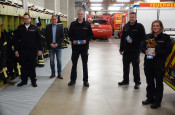 Steffen Hofmann, Bürgermeister Dirk Harscher, Jan Staib, Thomas Lenz, Julia Blum