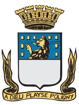 Wappen der Partnerstadt Poligny aus Frankreich