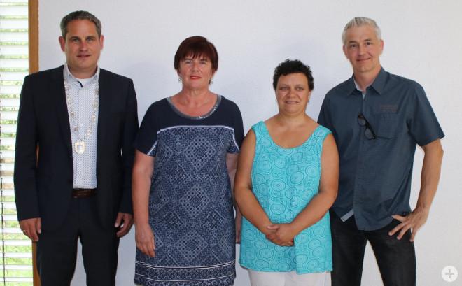 Bürgermeister Dirk Harscher, Eva Brutschin, Silke Radziwill, Manuel Eckert