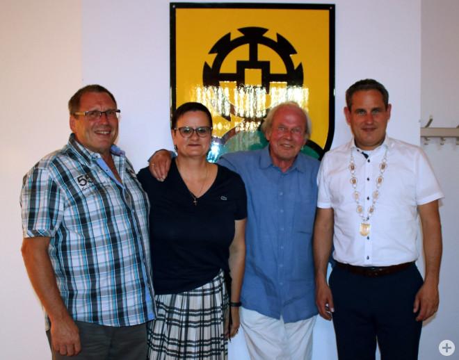 Andreas Nickel, Daniela Gempler, Martin Gruner, Bürgermeister Dirk Harscher