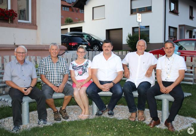 Ernst Weniger, Nicole Heidebrecht-Maier, Andreas Falk, Christian Walter, Ann-Bernadette Bezzel, Bürgermeister Dirk Harscher