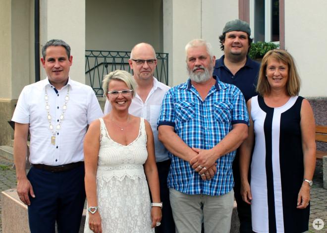 Bürgermeister Dirk Harscher, Annette Lämmle, Günter Schaffrinna, Jörg Wendt, Raimund Fries, Elke Würger