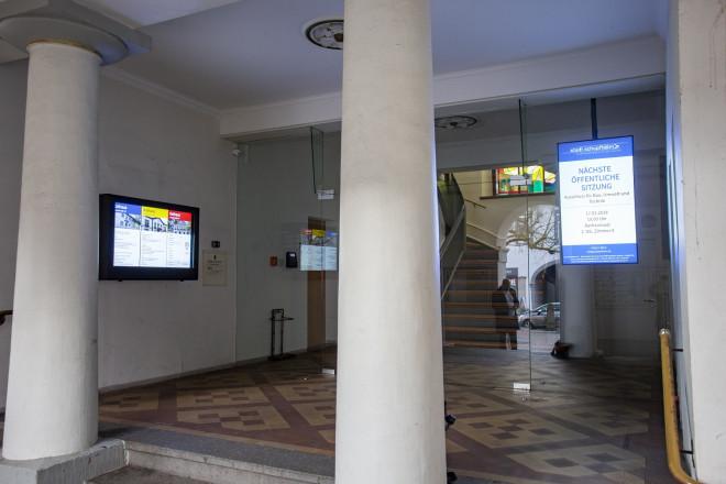 Displays in der Hauptstraße 31