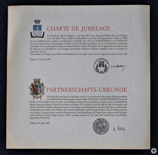 Charte de Jumelage de 1967