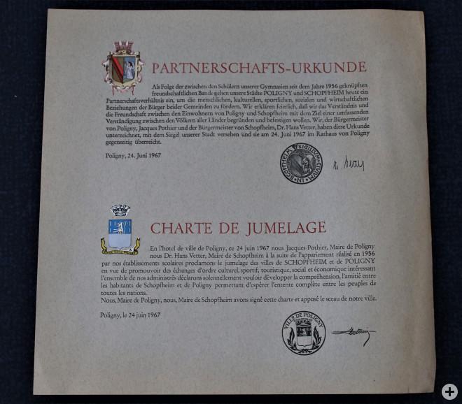 Urkunde aus dem Jahr 1967