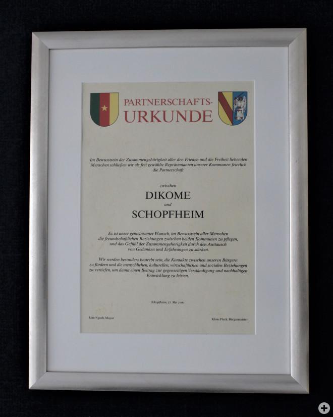 Urkunde aus dem Jahr 2000